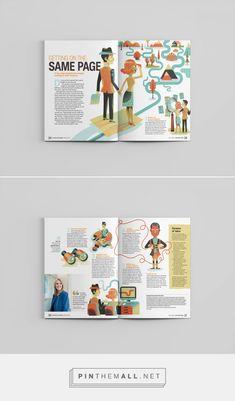 On Investing Magazine: Couples on Behance - created on Editorial Design Magazine, Magazine Design Inspiration, Magazine Layout Design, Brochure Design Inspiration, Book Design Layout, Graphic Design Lessons, Graphic Design Trends, Magazine Illustration, Book Illustration