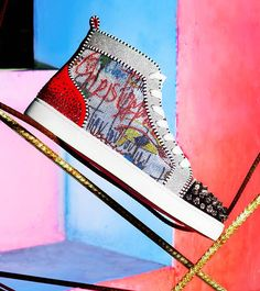 Christian Louboutin launches capsule collection Loubitag Paillettes: Synonymous with bold contrasts, exquisite details, sparkling glitter and, of course, signature red soles, Louboutin took these elements and injected them into a new collection well suited for the spring / summer season.