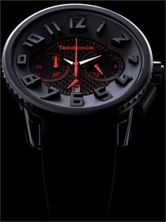 GULLIVER ROUND CHRONOGRAPH  Black / Red / Carbon Fiber