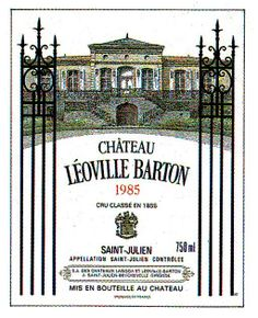 Chateau Leoville Barton Sanit Julien 1985 Wine Label