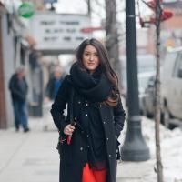 Spring - Toronto style snap: Spring weather can still be cool, so don't forget your layers!