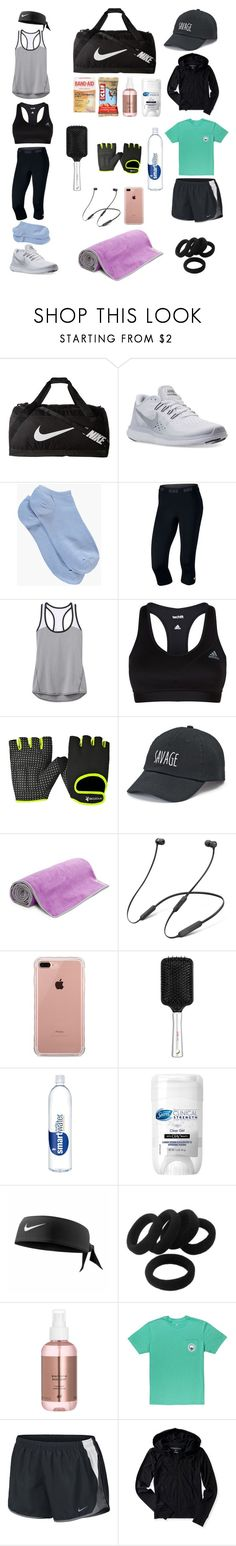 """""""Gym.💪🏋️♀️"""" by ale-needam on Polyvore featuring NIKE, Boohoo, Athleta, adidas, SO, Gaiam, Beats by Dr. Dre, Belkin, Olay and Aéropostale"""