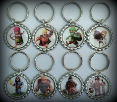 COC Clash of Clans Keychain Party Favors by dylivingston on Etsy