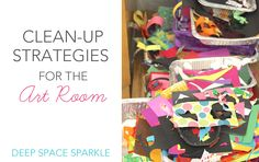End of the year clean-up and organizational strategies for the art room.