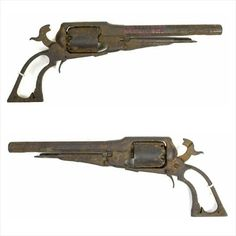 """Gettysburg Civil War Remington New Model Revolver, found in the Devil's Den, with red painted inscription on barrel """"Gettysburg Devil's Den 1921."""" Includes letter of provenance.  Provenance: Ex. Zeigler Collection via Dale Anderson  Condition: Relic condition; missing a few parts, VG."""