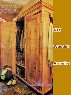 DIY Wooden Armoire - Homesteading - The Homestead Survival .