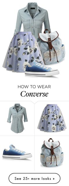 """""""Untitled #344"""" by malica on Polyvore featuring LE3NO, Aéropostale, Chicwish and Converse"""