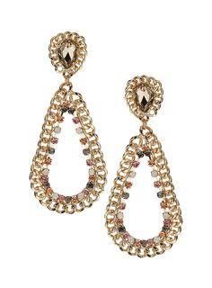 Multi Tear- Stone Drop Earrings