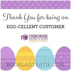 Usborne Easter Customer Graphic   Egg-cellent Customer