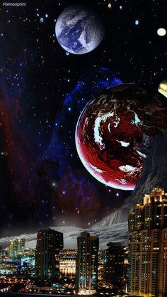 #fondodepantalla #abstracto #planeta #city #luna #fondoabstracto Moon, Celestial, Space, Outdoor, Art, Abstract Backgrounds, Display, The Moon, Floor Space
