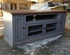 Ideas For Vintage Furniture Tv Stand Entertainment Center Bookcase Tv Stand, Tv Stand Console, Console Cabinet, Center Console, Buffet Console, Media Cabinet, Furniture Care, Solid Wood Furniture, Furniture Making