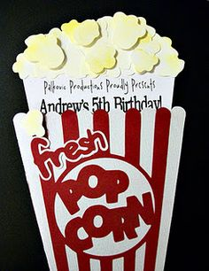 cutest little things: Birthday Movie Party Birthday Fun, Birthday Party Themes, Birthday Invitations, Birthday Ideas, Birthday Celebrations, Movie Night Party, Party Time, Movie Nights, Hollywood Party
