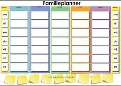 Familie-planner 1 week