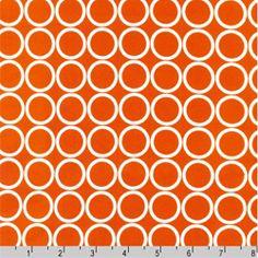 White rings on orange