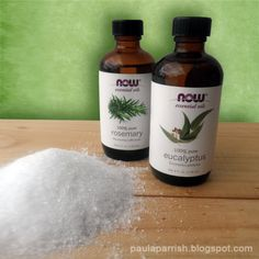 Cold Relief Bath Soak Recipe  Ingredients:  2 cups Epsom Salt  3 drops Eucalyptus Essential Oil   2 drops Rosemary Essential Oil   Instructions:  Combine the ingredients together and   pour into the flow of your warm bath water