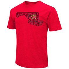 Men's Campus Heritage Maryland Terrapins State Tee, Size: Medium, Dark Red