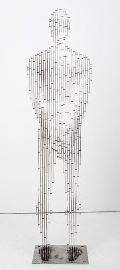 Julian Voss-Andrea The Sentinel 2012 Stainless steel-89x21x20 inc-2-26x0-53x0-51m