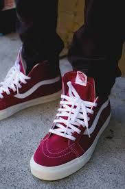 vans sk8 red and white