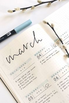 Starting a new weekly spread in your bullet journal and need some cute ideas? Check out these awesome March spreads for inspiration! journal inspiration Bullet Journal Weekly Spread Ideas For March 2020 - Crazy Laura Bullet Journal Banners, Bullet Journal Notebook, Bullet Journal School, Bullet Journal Spread, Bullet Journal Ideas Pages, Bullet Journal Inspiration, Bullet Journals, Bullet Journal Ideas How To Start A, Bullet Journal Goals Layout