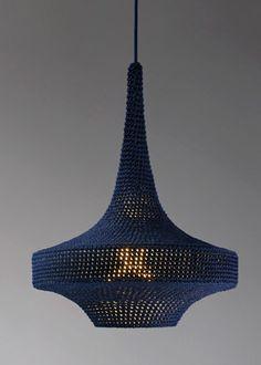 Knit lamp by Naomi Paul