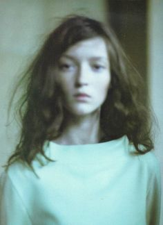 Like this blurred effect / filter. Her hair is great too. Audrey Marnay by Paolo Roversi for Vogue Italia, 1998