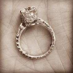 We can design you a beautiful engagement ring. Here is a wonderful example of our work.