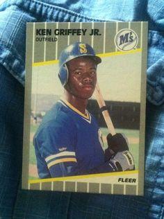 Ken Griffey Jr. Fleer 1989 Rookie Baseball Card #548 by AbalonePremiumVintaj on Etsy