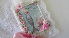 Mixed Media Lace Book French Journal Travel by underthenightmoon