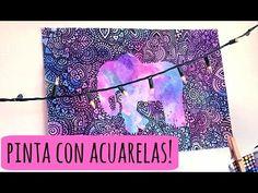 Acuarelas y Sal!   Zentangle Art - YouTube Mandala Art, Mandala Drawing, Doodles Zentangles, Zentangle Patterns, Dibujos Zentangle Art, Dibujos Cute, Op Art, Yin Yang, Art Techniques