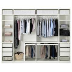 PAX wardrobe white m order & 10 year guarantee - IKEA austria - View photo 1 of 3 - Ikea Pax Closet, Ikea Pax Wardrobe, Diy Wardrobe, Bedroom Wardrobe, Wardrobe Design, Closet Storage, Bedroom Storage, Wardrobe Storage, Closet Organization