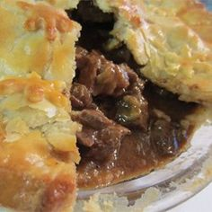 Steak and Irish Stout Pie - Allrecipes.com. Add Bay Leaves, Rosemary, Tarragon, S&P, dash of Worcestershire. Potatoes? Carrots? Celery?