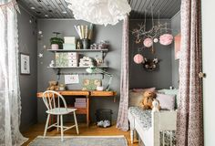 gravity-gravity:  I don't often post kids rooms but god this one is nice! Via My Home