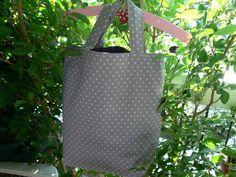 sac tissuSac tissu japonais étoiles gris  sac shopping  sac fourre tout  sac de plage  cabas coton  fait main en France  sac tissu