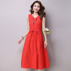 Plus Size Sale Sexy & Club Fit And Flare Solid Dress 2016 New Korean Large Size Women Dress Slim Cotton Sleeveless Female