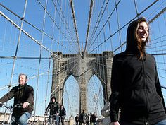 Most beautiful walk over a bridge ever! Everyone should walk over the Brooklyn Bridge. And you know what? It's free!