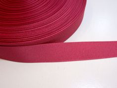 Red Pink Ribbon, Victorian Rose Grosgrain Ribbon 7/8 inch wide x 10 yards, SECOND QUALITY FLAWED by GriffithGardens on Etsy