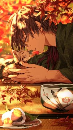 Anime...animeboy...illustration...art...scenery...kawaii