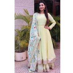 Beautiful Nimrat khaira in our label ❤️ Party Wear Indian Dresses, Designer Party Wear Dresses, Salwar Suits Party Wear, Dress Indian Style, Kurti Designs Party Wear, Indian Wedding Outfits, Indian Outfits, Indian Wear, Indian Attire