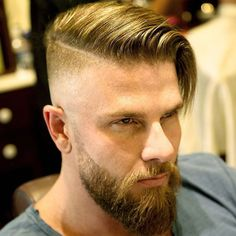 50 Popular Haircuts For Men Guide) Undercut Comb Over – Popular Hairstyles For Men: Best Men's Haircuts, Cool Short, Medium and Long Hair Styles For Guys Undercut With Beard, Beard Haircut, Beard Fade, Undercut Fade, Full Beard, Disconnected Undercut Men, Undercut Combover, Undercut Styles, Fade Haircut
