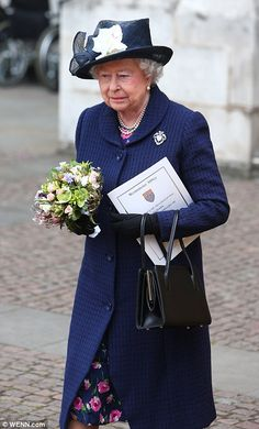 The Queen leaves Westminster Abbey after the service
