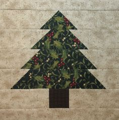 Neighborhood Quilt Club: Tree Block Tutorial