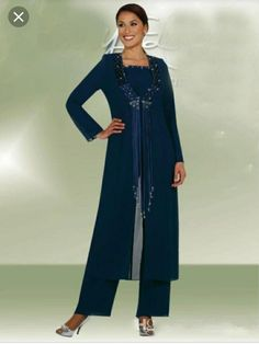 04dd1f75cf0 Online Shop Hot Selling Long Sleeve 2015 Mother Of The Bride Pant Suits  With Jacket Plus Size Chiffon Mother of the Bride Dresses New
