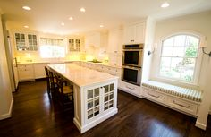 Class White Kitchen Perfect for Entertaining