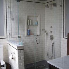 Beveled Subway Tile Shower
