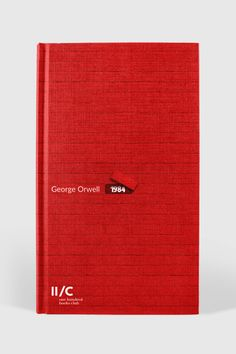 #design #book #bookcover #red George Orwell 1984 Book, Minimalist Book, Print Design, Graphic Design, Book Cover Design, Editorial Design, Book Covers, Books, Red