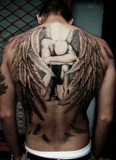 ~angel backpiece tattoo