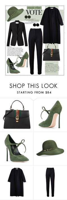 """""""Untitled #213"""" by dejana-dragicevic ❤ liked on Polyvore featuring Gucci, Casadei, Betmar, Marni, Balmain and Finesse"""