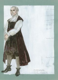 The Miser (Harpagon). Costume design by Rachel Anne Healy. Costume Design Sketch, Chicago Illinois, Online Portfolio, Fashion History, Theatre, Opera, Sketches, Costumes, Fictional Characters