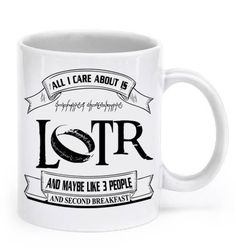 Lord Of The Rings Mug!! This is the perfect mug it's totally me =)