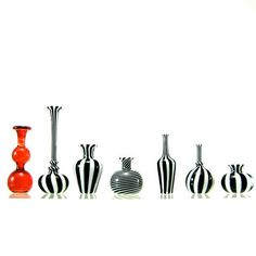 Miniature Hand Blown Glass Vases